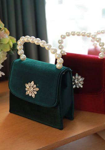 Searching For Love Pearls Handbag