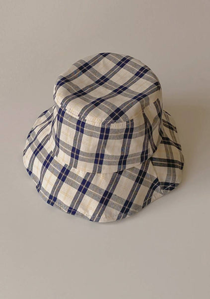 Pink Rose Check Bucket Hat
