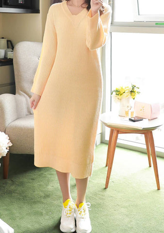 Good With Words Knit Long Dress