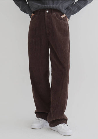Soy String Wide Pants [Brown]