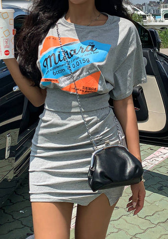 Health Supplement T-Shirt Skirt Set