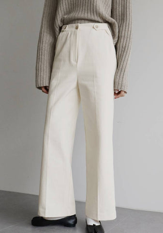 Homely Button Pants [Ivory]