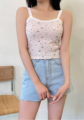 Flowers Clouds Sleeveless Top