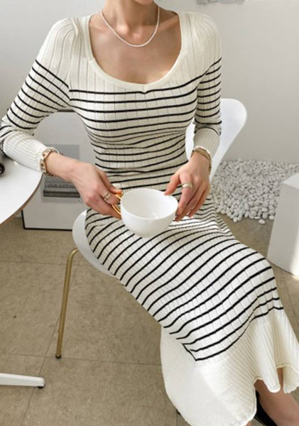 Beautiful Impact In Life Stripes Dress