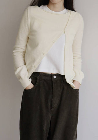 Calin Wool Knit Top [Ivory]