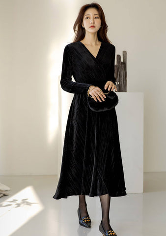 It Is Your Turn Velvet Long Dress