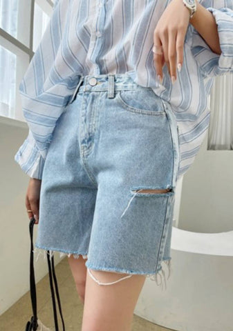 Let Grow Together Bermuda Denim Shorts