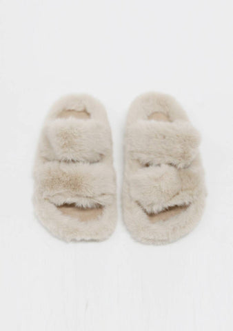 Need A Vacation Furry Slippers