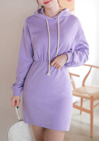 Time To Pastel Hood Sweat Dress