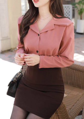 Look Up And Get Lose Collar Blouse