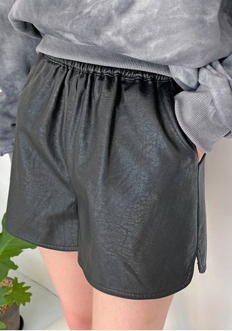 Ella Leather Shorts