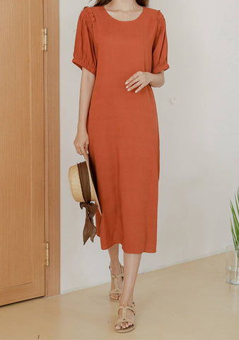 To Every Feeling Linen T-Shirt Dress