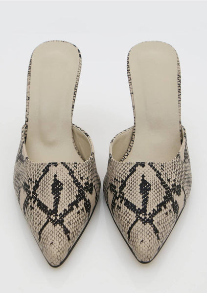 Empowering Woman  Snake Print Shoes