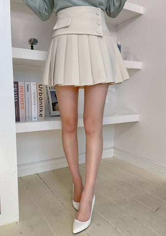 Time To Be Cute Pleats Skirt