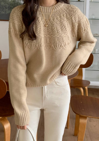 Planet Of Nice Hearts Knit Sweater