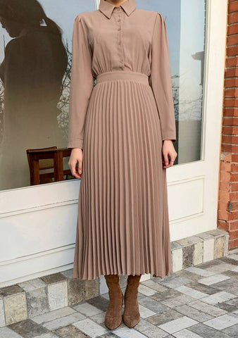 Kara Pleated Banded Dress