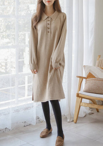 Bossa Nova Button Knit Dress