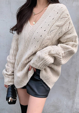 Shine Pretty Girl Knit Loose Sweater