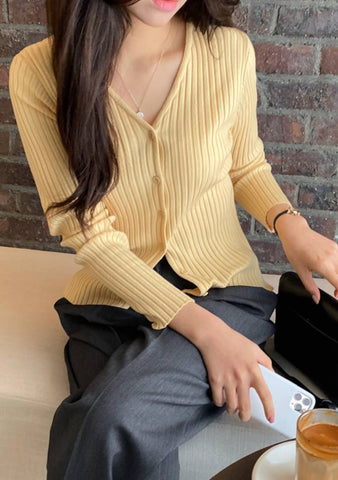 To Sit In Silence Ribbed Knit Cardigan