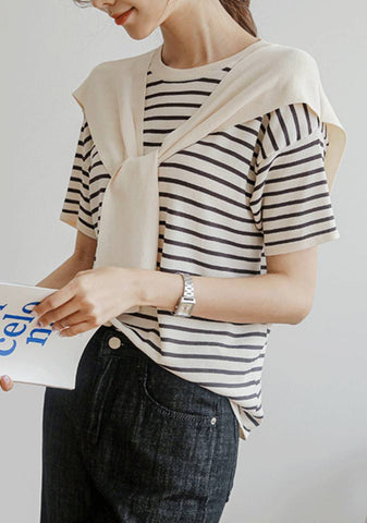 The Greater Your Storm Stripes Knit Top