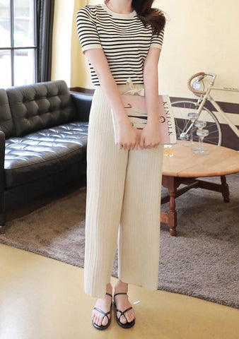 Comfy Stripe Top And Pants Set