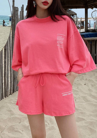 Beach By Day Lettering Top Shorts Set