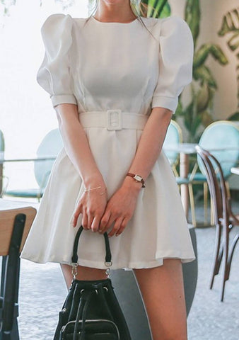 A New Romance Puff Sleeve Dress