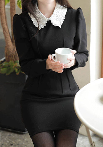 This Perfect Speech Collar Dress
