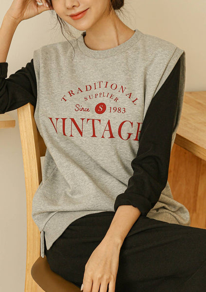 Time To Vintage Printed Sweatshirt