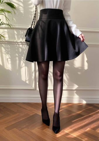 A Little Bit Different Leather Skirt