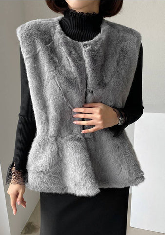 Think Of Happy Memories Fur Vest