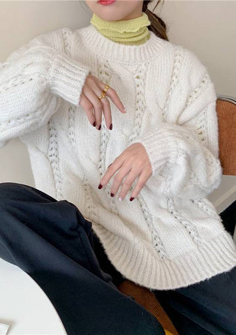 Left To Wonder Cable Knit Sweater
