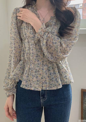 Start With What You Have Flower Blouse