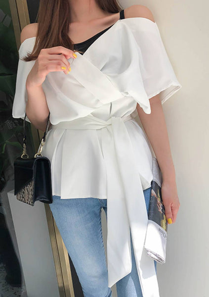 When I Am With You Off-Shoulder Blouse
