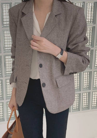 Feel What You Need Wool Blazer Jacket