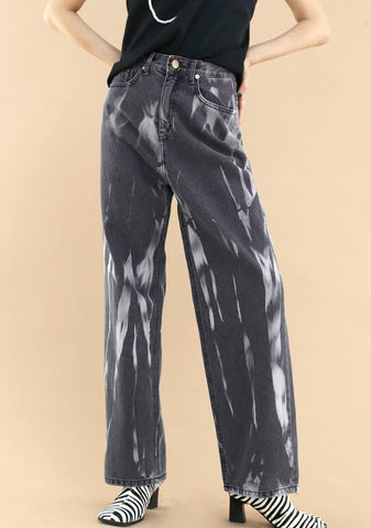 Smoke Wide Pants [Black]