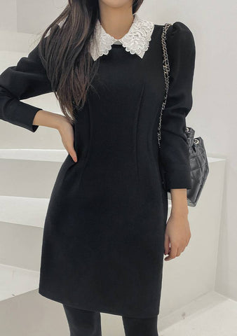 Too Good At Hello Collar Dress
