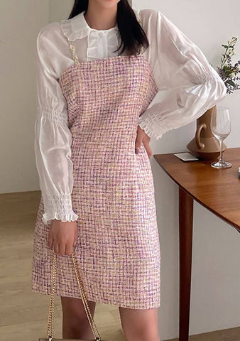 Wondering Tweed Mini Top And Dress Set