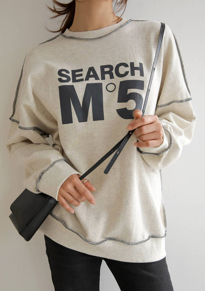 In The Search Of Me Printed Sweatshirt