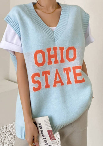 Ohio State Wool Knit Vest