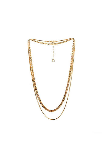 Golden Rays Two Ranks Necklace