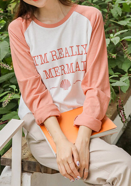 I Am Really A Mermaid Printed T-Shirt