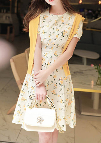 Incandescently Happy Flower Dress