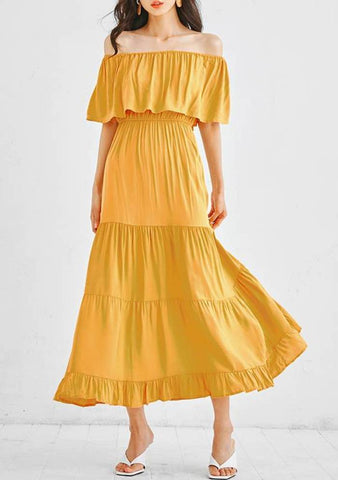For A Funny Spring Off-Shoulder Dress
