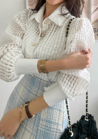 Pictures Lovers Puff Sleeves Blouse