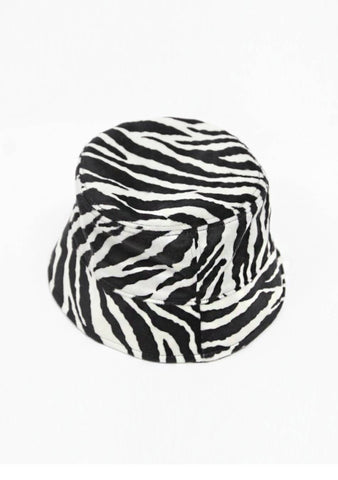My Favorite Everything Zebra Print Bucket Hat