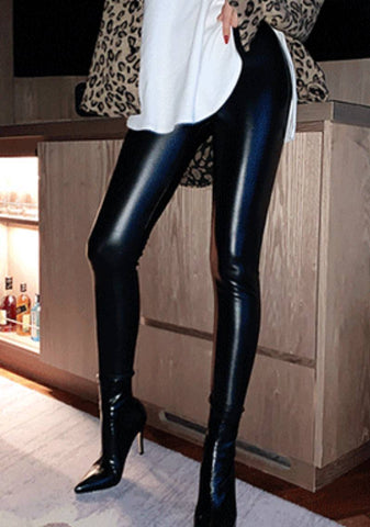 Adjust Your Attitude Leather Leggings