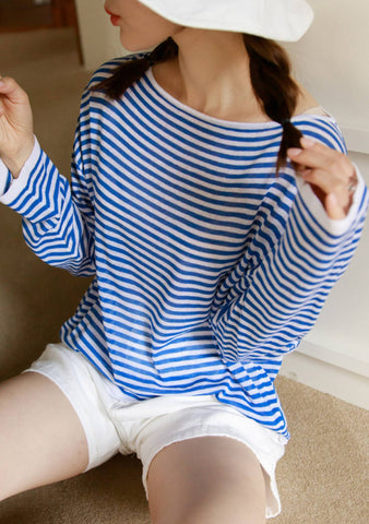 A Happy Always Stripes Knit Top