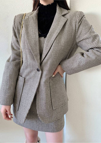 Make It Last Forever Houndstooth Blazer Jacket