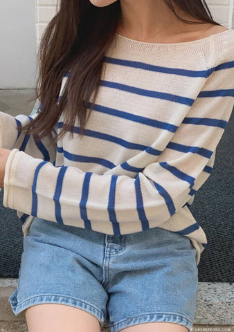 Thank You For Your Patience Stripes Knit Top